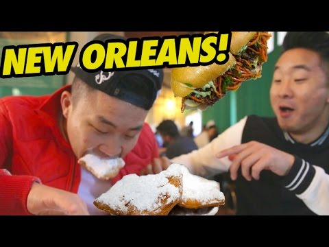 NEW ORLEANS FOOD CRAWL (Cafe Du Monde, Po Boys) - Fung Bros Food