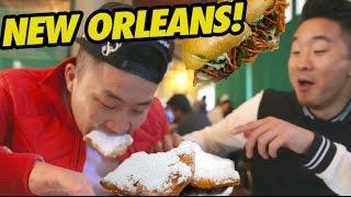 Video NEW ORLEANS FOOD CRAWL (Cafe Du Monde, Po Boys) - Fung Bros Food download MP3, 3GP, MP4, WEBM, AVI, FLV Juli 2018