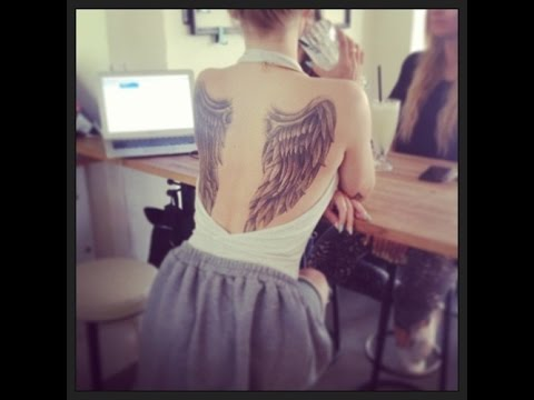 angel wings tattoos for girls