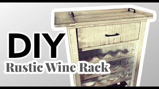 Rustic Wine Rack Build