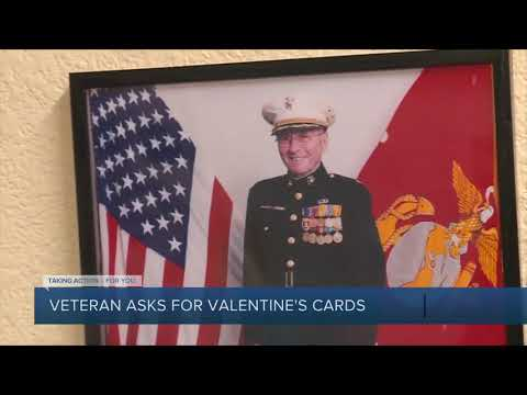 Maverick - 104 year-old WWII veteran asks people to send him cards for Valentine's Day