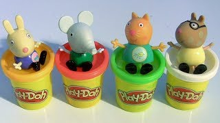 Peppa Pig Nickelodeon Pop Up Toys Playdoh can Surprises