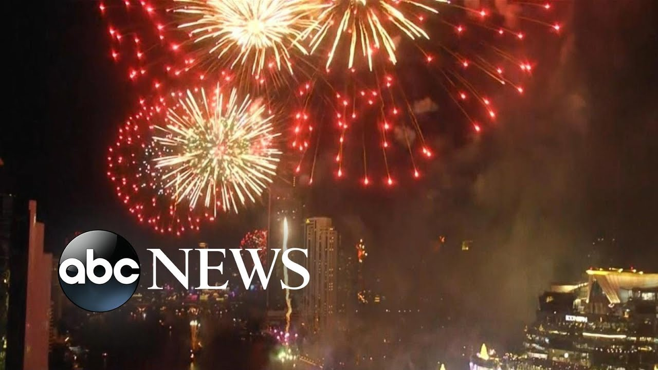 Fireworks in Thailand for the beginning of 2020 l AB C News