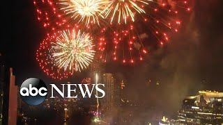 Fireworks in Thailand for the beginning of 2020 l ABC News