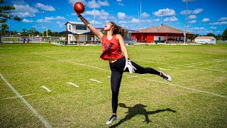 Download MY GF CAN CATCH BETTER THAN ODELL BECKHAM JR.. (ROUTE TREE CHALLENGE) Mp3 and Videos