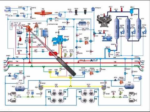 Пневматическая схема электровоза
