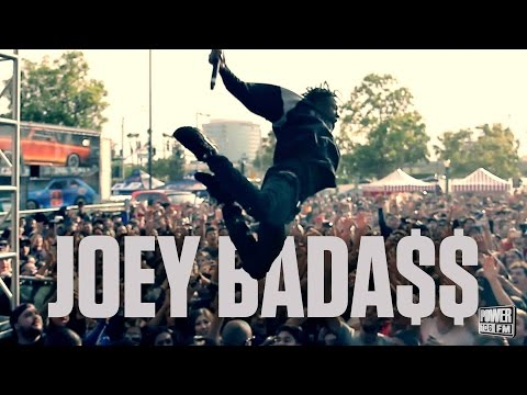 Joey Bada$$ Crowd Surfs While Performing 'Survival Tactics' LIVE