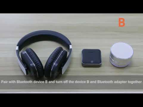 How to connet your earphone and bluetooth speaker with higoing bluetooth transmitter