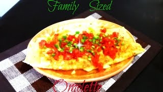 Family sized omelette from JAMAICA [dung a yaad]