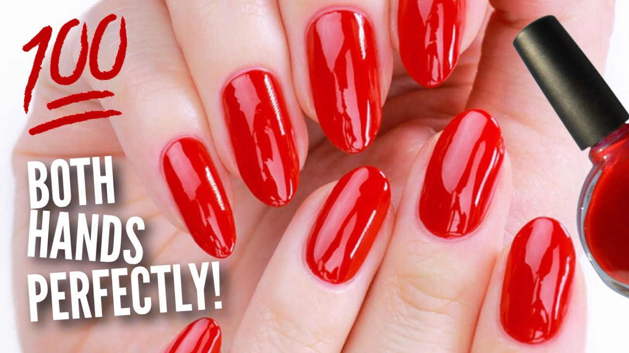 Paint Your OTHER Hand\'s Nails Perfectly! - YouTube