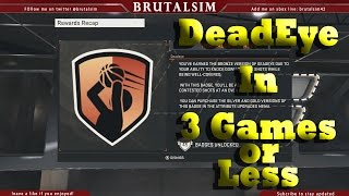 NBA 2K15 Tutorial | How to Get Deadeye Badge | In Three Games
