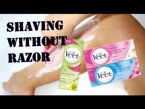 How to using VEET ! Shaving without razor