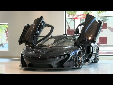 McLaren P1 supercar in Beverly Hills!  Start-up and electric motor demonstration.
