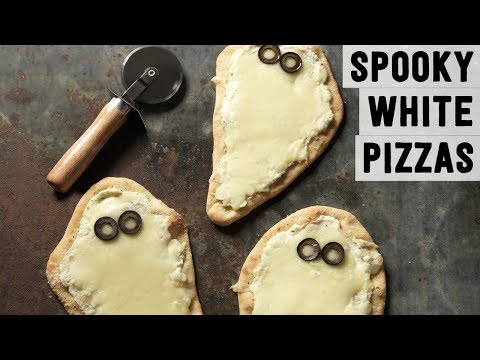 Individual Spooky White Pizzas | Food Network