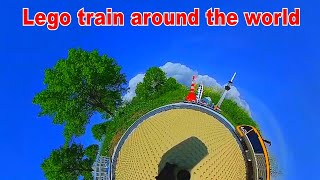 Lego train going around the world - 360° effects