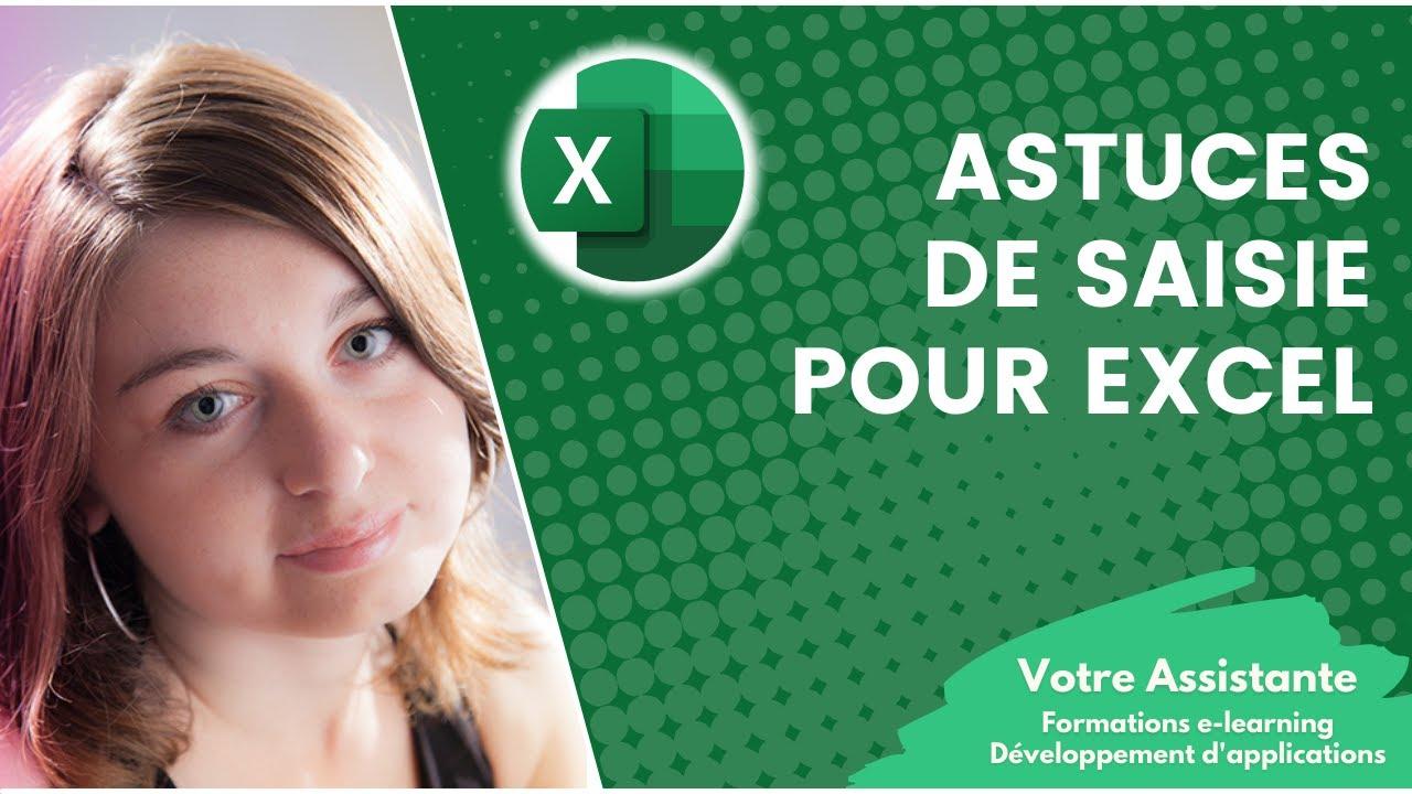 Astuces De Saisie Pour Excel Youtube