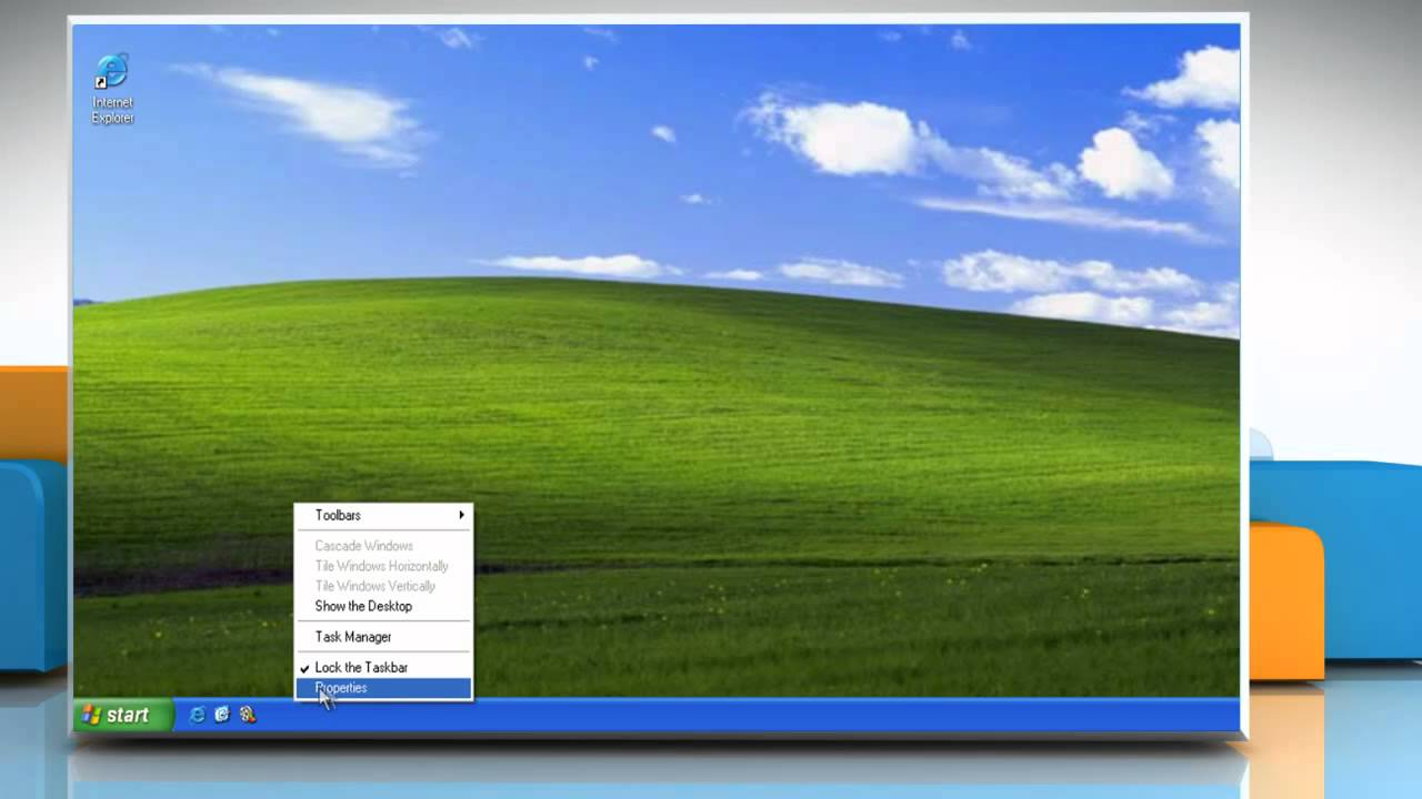 Windows® XP: Display or hide the Quick Launch toolbar