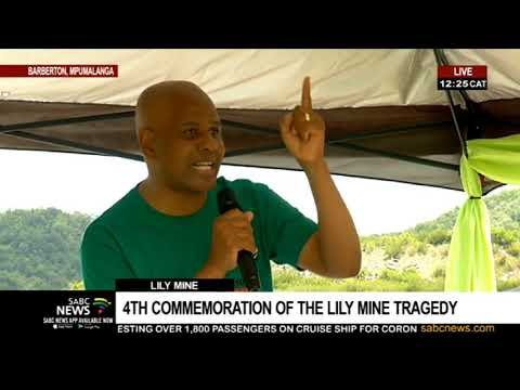 AMCU President Joseph Mathunjwa Addresses 4th Commemoration Of The Lily Mine Tragedy