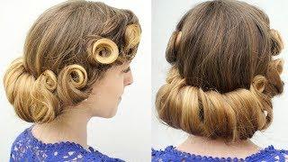 Vintage Pin curl Updo Hair tutorial | Braidsandstyles12