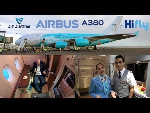 Air Austral A380 WORLD RECORD FLIGHT First Class SUITE, Hi Fly Paris-Réunion [AirClipsTraveller.com]