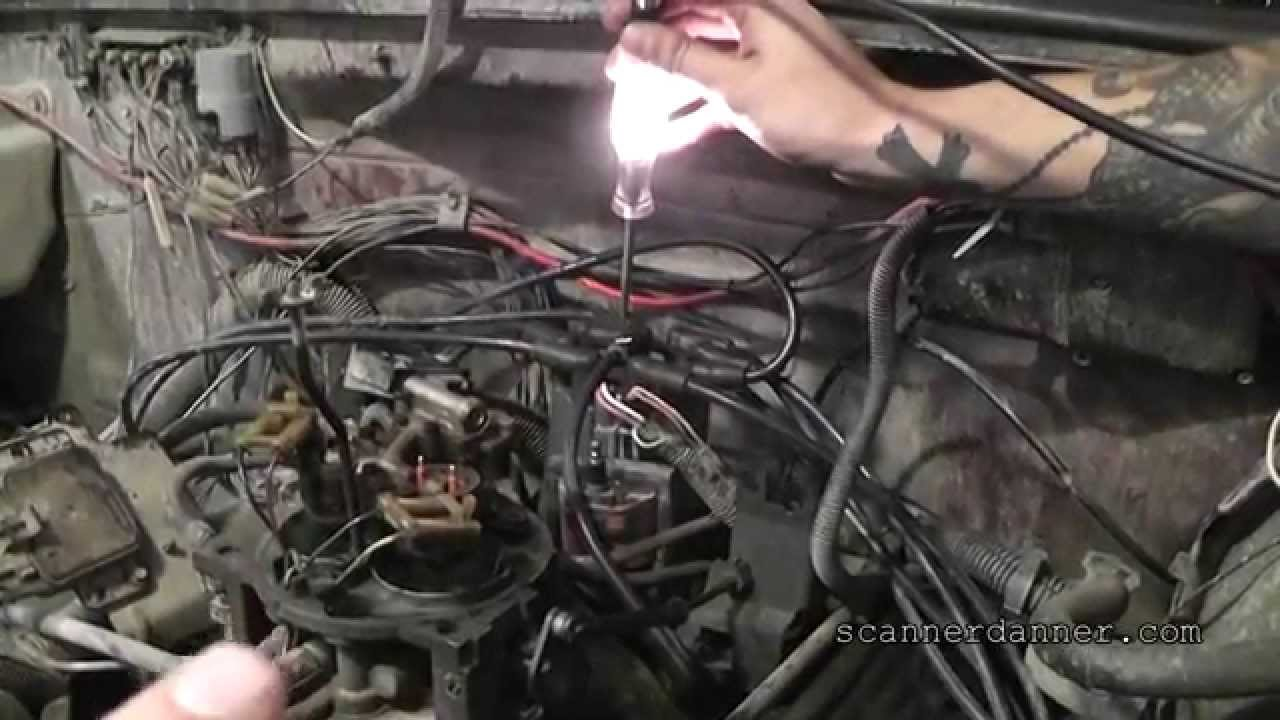 How To Test An Ignition Coil Module With A Light Distributor 1997 Gmc Topkick Wiring Diagram Gm Youtube