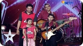 This Family Band got Golden Buzzer from Anggun - Rafi Galsa - AUDITION 8 - Indonesia's Got Talent