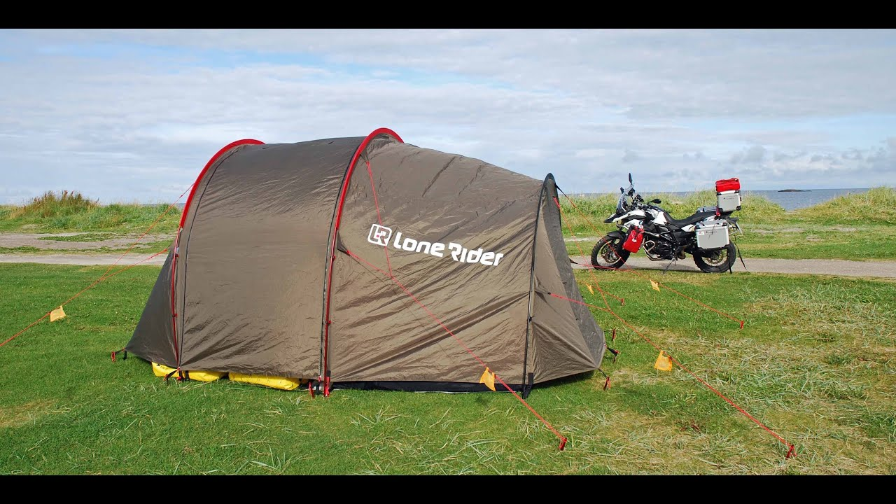 Motorcycle Tour to Norway - Lone Rider Mototent (Tent Review - English Version) - YouTube & Motorcycle Tour to Norway - Lone Rider Mototent (Tent Review ...