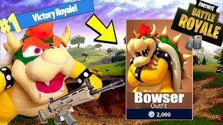 Bowser CHALLENGE In Fortnite! [LEGENDARY SCAR!] | Fortnite Battle Royale |