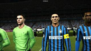 PES 2012 - Trabzonspor vs Inter Milan ( Champions League opening ceremony )