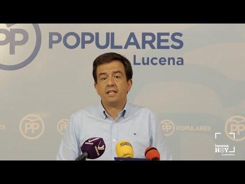 """VÍDEO: El PP denuncia la """"incapacidad"""" del PSOE para ejecutar las inversiones previstas en Lucena."""