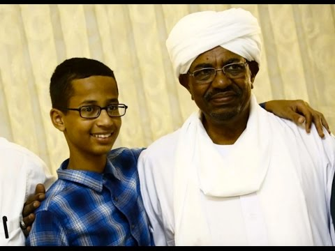 Ahmed Mohamed  meeting with Sudanese President Omar Hassan al-Bashir in the capital of Khartoum