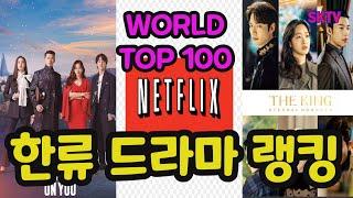 5월 한류 드라마 랭킹, 넷플릭스 월드 톱 100 랭킹…