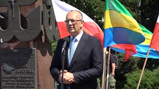 Kleczkowski na otwarcie wystawy 'Tu rodziła się Solidarność'