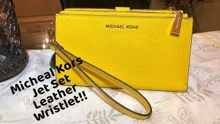 7ce59ef38738 v2Movie   Michael Kors Jet set Travel Large Double Wristlet Rose ...