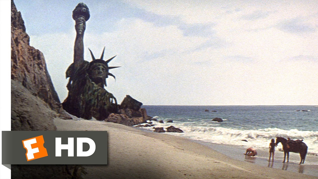 Planet Of The Apes 55 Movie Clip Statue Of Liberty 1968 Hd