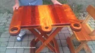 Folding Redwood Table-www.michaelfrazierdesigns.com