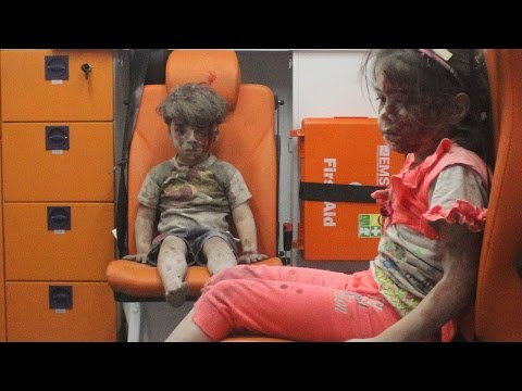 Shocking footage emerges of Syrian children pulled from airstrike rubble