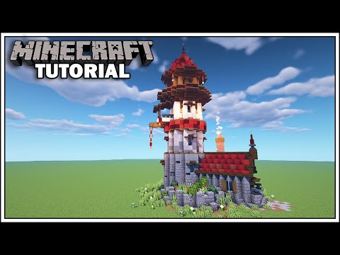 Minecraft Tutorial - How To Build A Wizard Tower