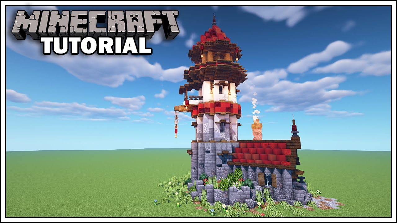 Minecraft Tutorial How To Build A Wizard Tower Youtube
