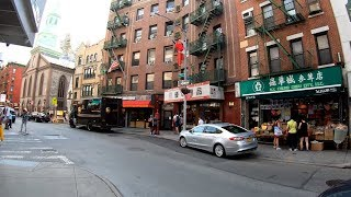 ⁴ᴷ⁶⁰ Walking NYC (Narrated) : Chinatown & Little Italy, Manhattan