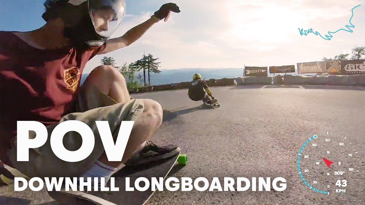 Super Fast Downhill Longboarding | Red Bull No Paws Down 2018 POV