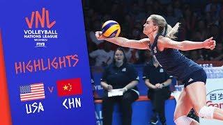 USA Vs. CHINA - Highlights Women | Semi-Final | FIVB Volleyball Nations League 2019