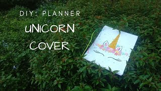 DIY: UNICORN COVER PLANNER WITH BOOKMARK #SCHOOLSUPPLIES