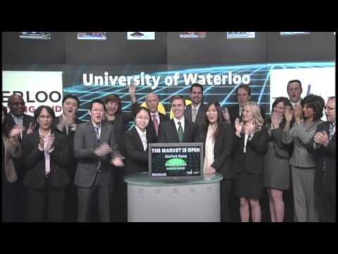 University of Waterloo Equity Research Challenge opens Toronto Stock Exchange, March 28, 2013