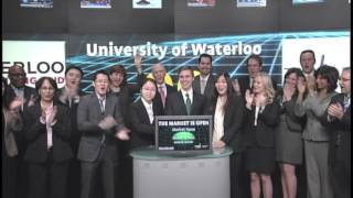 University of Waterloo Equity Research Challenge opens Toronto Stock Exchange, March 28, 2013