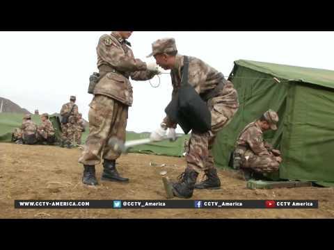 Shelter construction starts for displaced Tibetans