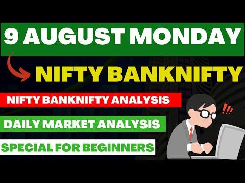 Nifty U0026 BANKNIFTY TOMORROW PREDICTION U0026 BANKNIFTY ANALYSIS FOR 9 August Monday | Nifty Prediction