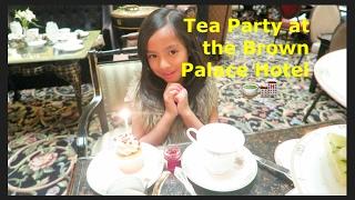 $40 tea! Tea time at the Brown Palace Hotel! //Sanchez Fun