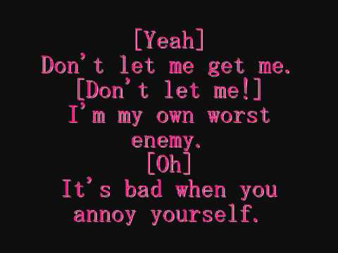 Hazard To Myself - Pink ~ Lyrics