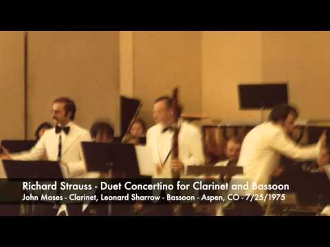 Duet Concertino for Clarinet and Bassoon - Moses - Sharrow
